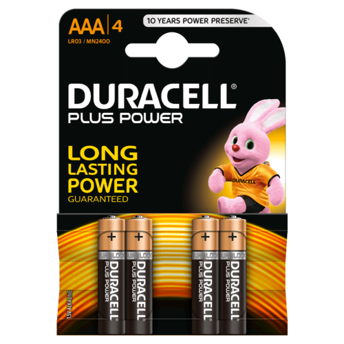 DURACELL Plus Power MN 2400 AAA BL4