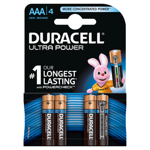 DURACELL Ultra Power MX 2400 AAA BL4 1,5V