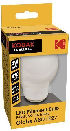 Kodak LED E27 8W (~60 Watt) Warm MATT